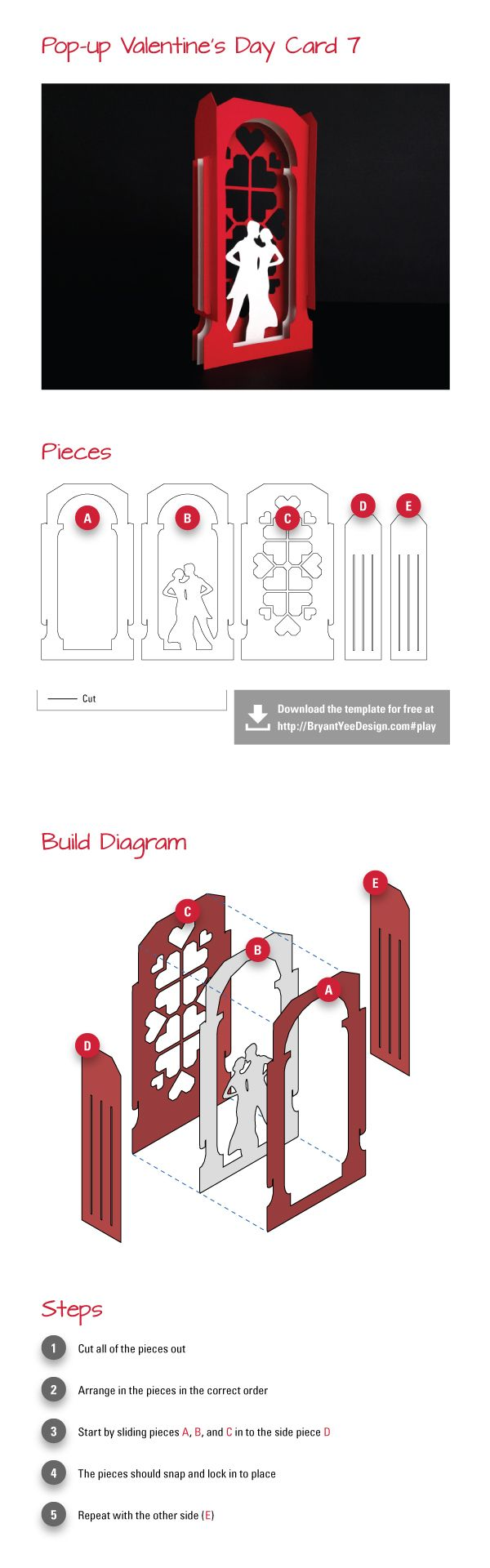 Do It Yourself Pop Up Valentine S Day Card Study 7 Paper Pop Pop Up Cards Paper Engineering