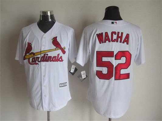 Men's St. Louis Cardinals #52 Michael Wacha Home White 2015 MLB Cool Base Jersey