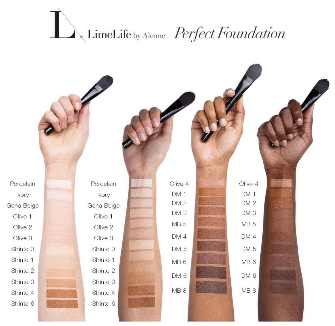 d3df0b44801 Limelife by Alcone perfect foundation swatches | Limelife by Alcone ...