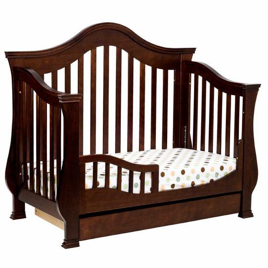 DaVinci Ashbury 4 In 1 Sleigh Convertible Crib With Toddler Rail Espresso FREE