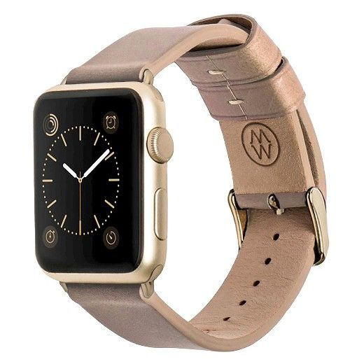 Monowear Classic Leather band in BEIGE for 42MM Apple
