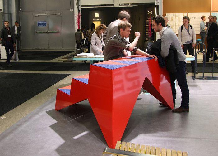 Julien de Smedt Stoop | A Bench That Recreates The Joy Of Having A Brownstone Stoop | via: Co.Design