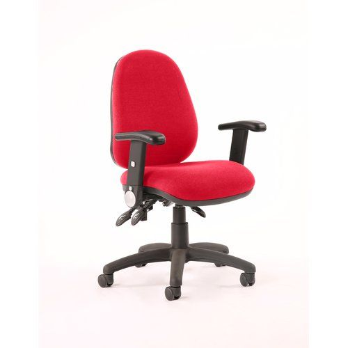 Burgundy//Red High Back Task Operator Chair