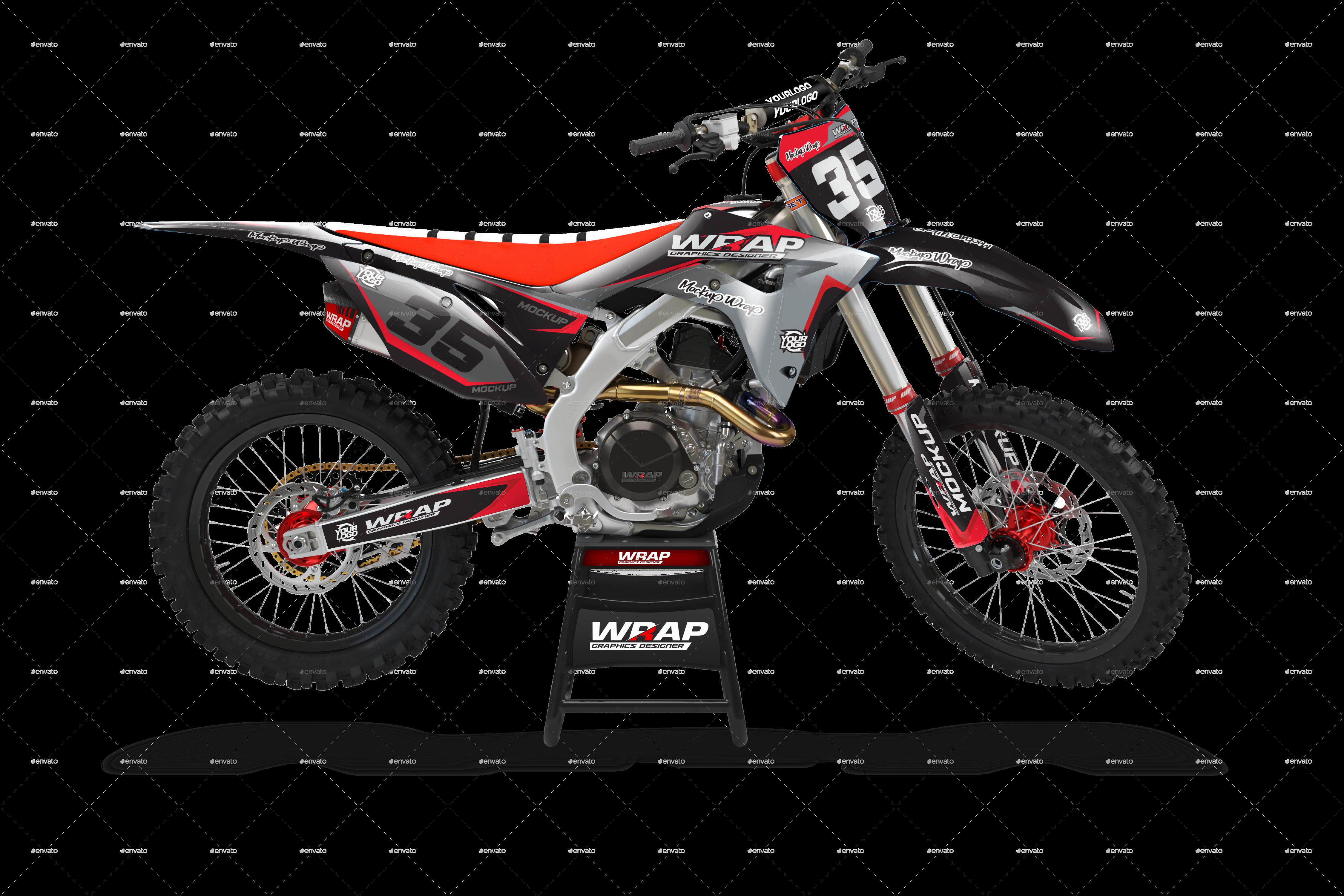 Crf 125 450 2020 Motorcycle Mockup In 2021 Mockup Motorcycle Creative Resume Template Layout