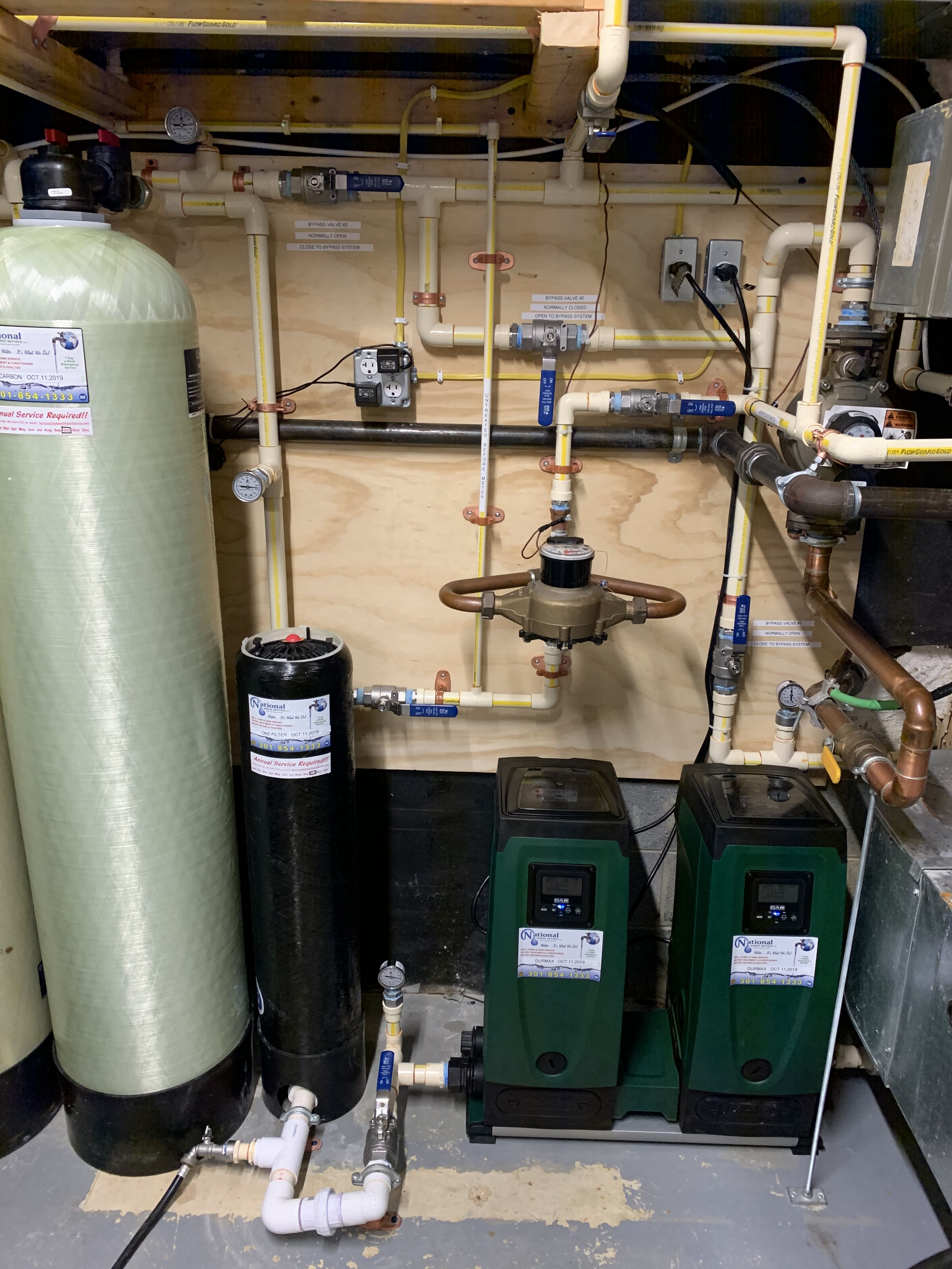 Home water treatment well pump water quality