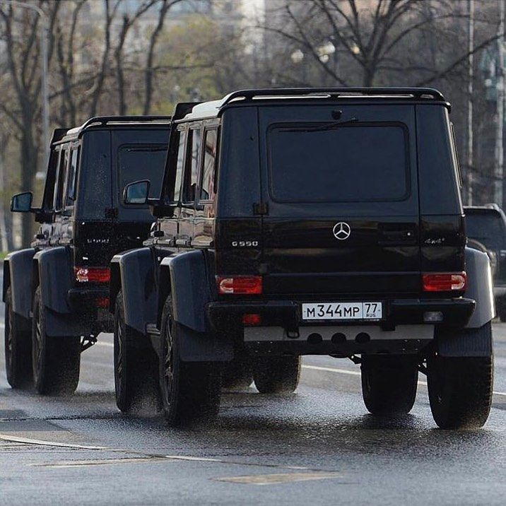 Two G4x4² Mercedes G Wagon Benz Mercedes Car