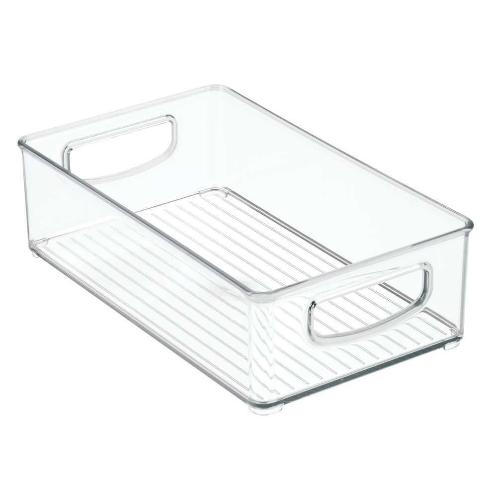 Storage Bins 3pk Clear Interdesign In 2020 Food Storage Organization Storage Bins Organizing Bins