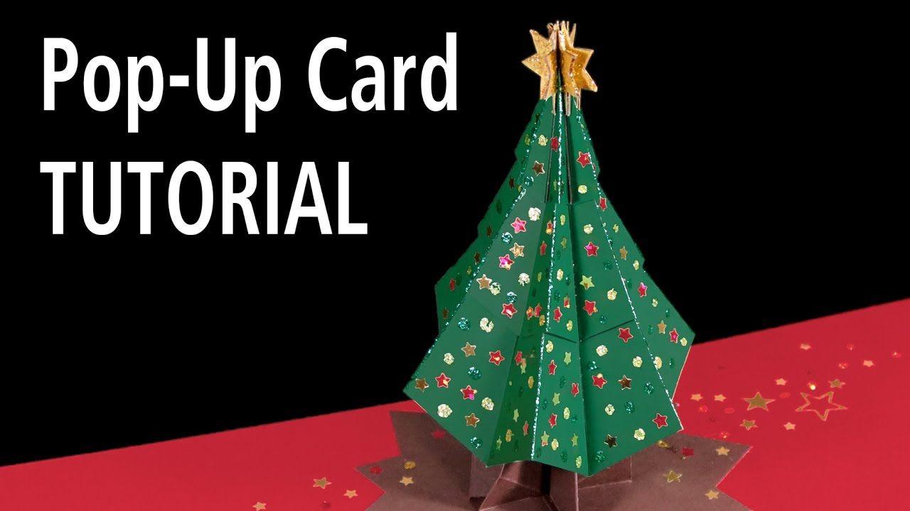Download The Template Here Https Peterdahmen De Wp Content Uploads 2016 10 Christmastree Pop Up Christmas Cards Christmas Tree Cards 3d Christmas Tree Card