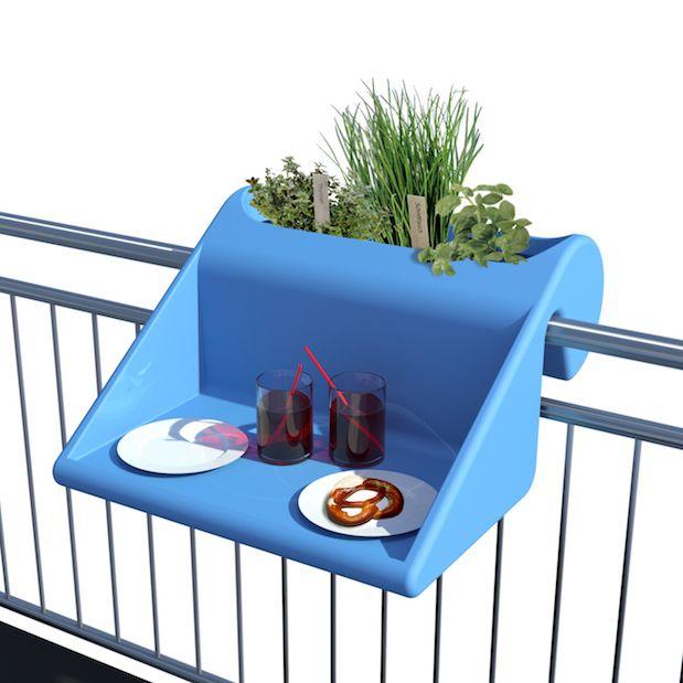 f r kleine balkons balkonzept ist wetterfester balkontisch blumenkasten ablagefl che uvm ei. Black Bedroom Furniture Sets. Home Design Ideas