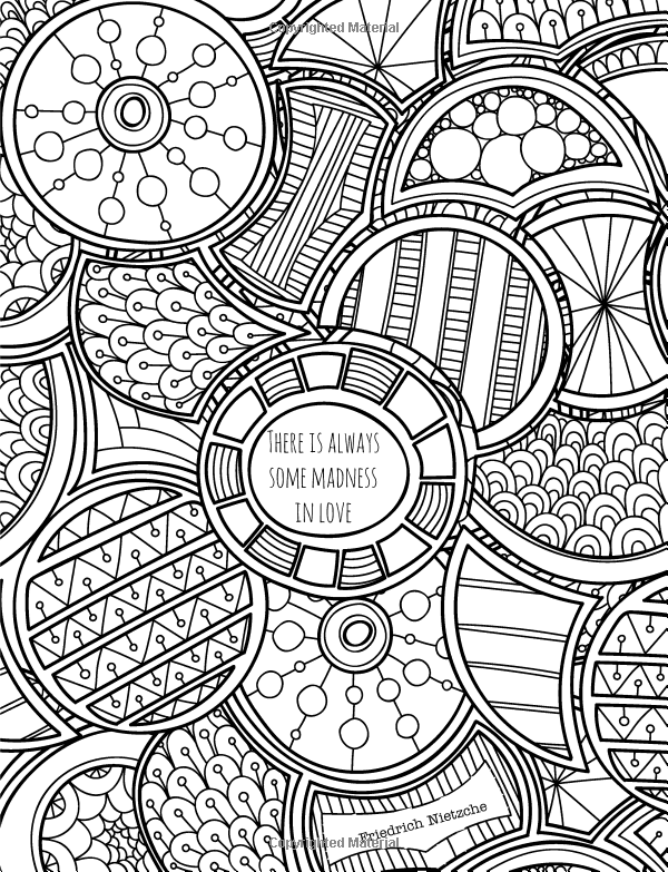 Classic Quotes about Love to Color: Adult Coloring Book ...