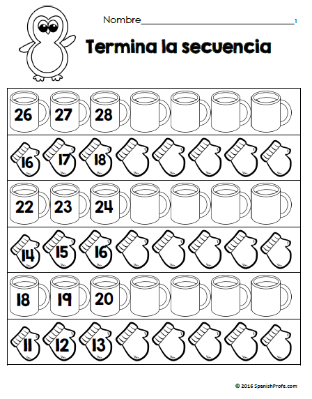 Free Bilingual January Math Worksheets Matematicas Para Kindergarten Gratis Invierno O Y Enero Math Worksheets January Math Bilingual Math