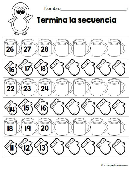 Free Bilingual January Math Worksheets. Matematicas para ...