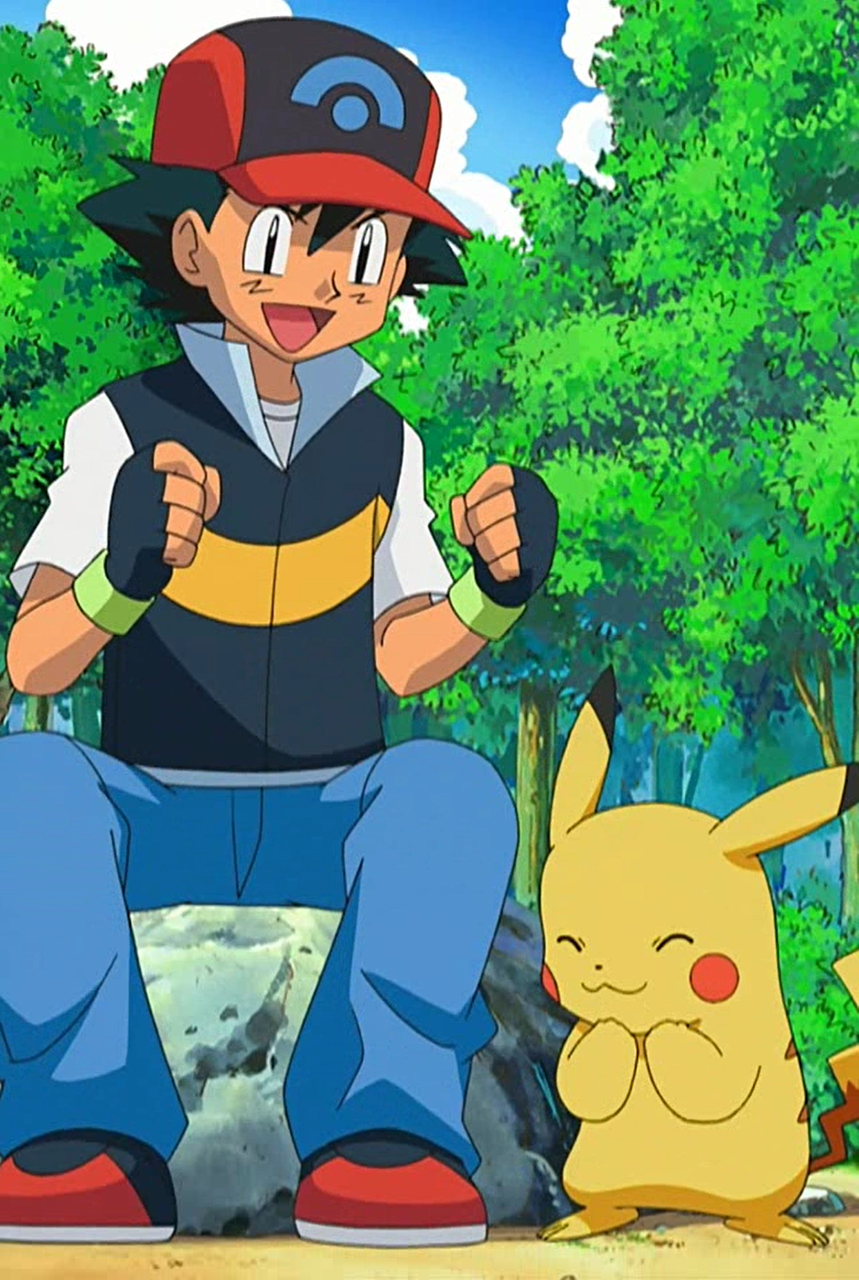 Pikachu and Ash in the Diamond & Pearl series Pikachu