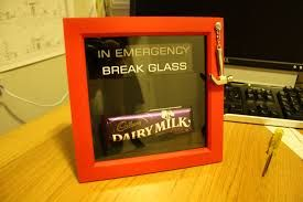 Resultado de imagem para in case of emergency break glass chocolate