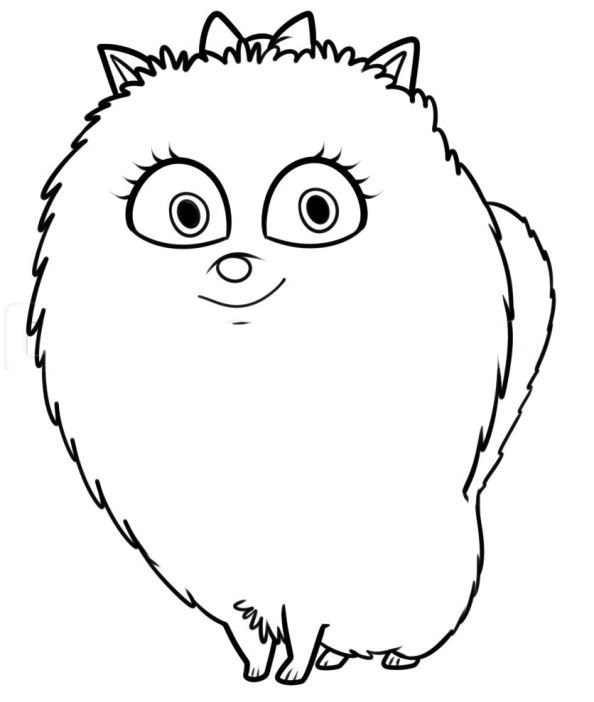 Coloring Page Secret Life Of Pets Gidget 2 Animal Coloring Pages