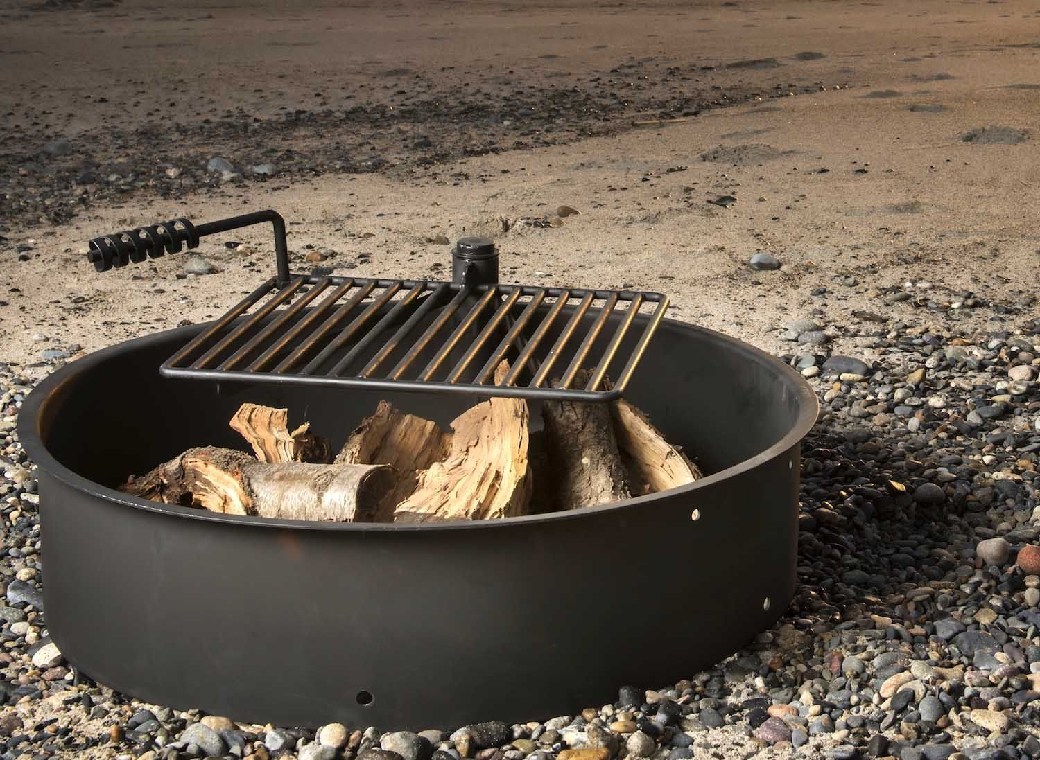Details About Titan Adjustable Swivel Grill Campfire Cooking Grate 40 Fire Pit Ring Bbq With Images Fire Pit Cooking Fire Pit Grill Campfire Cooking Grate