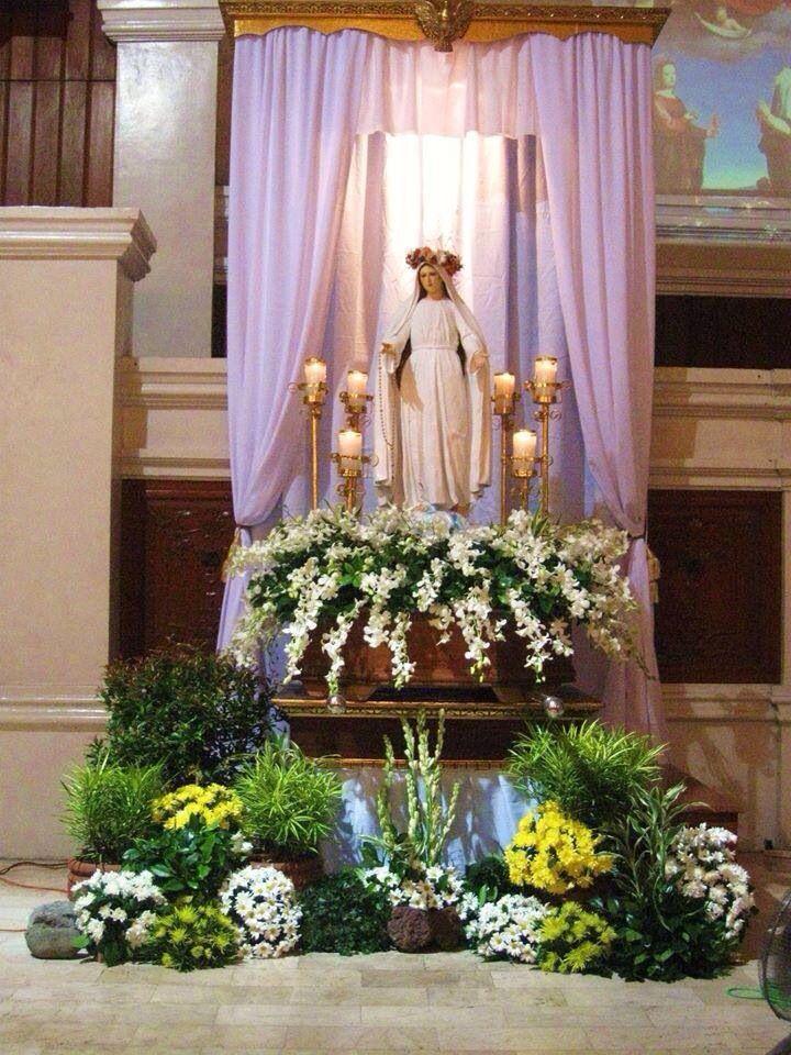 Rosa Mystica Decoracao Igreja Decoracoes De Altar Altares