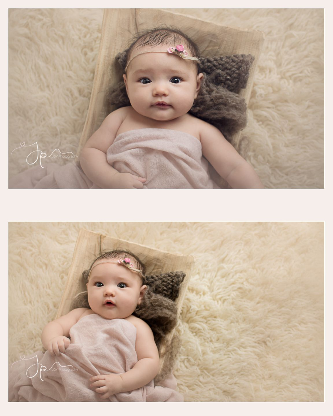 Nw ohio pregnancy newborn baby photographer baby girl portrait session at 2 months old would also work well for a 3 month old baby