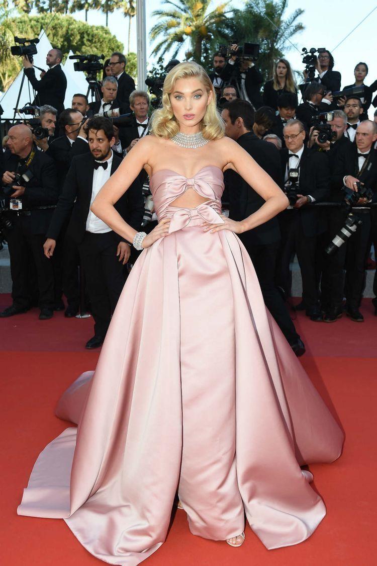 Elsa Hosk in Alberta Ferretti in Cannes 2018   Red carpet ...