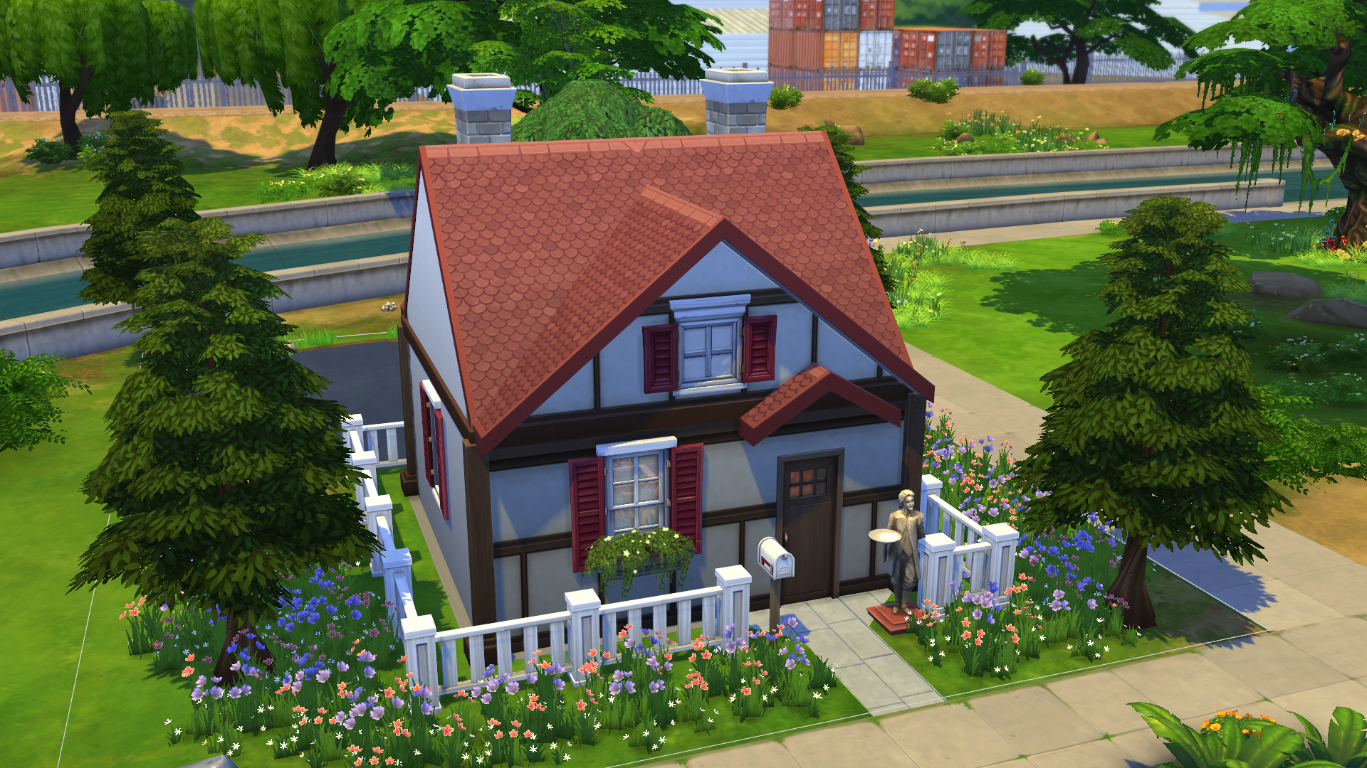 I Made A Gamecube-Style Animal Crossing House In The Sims