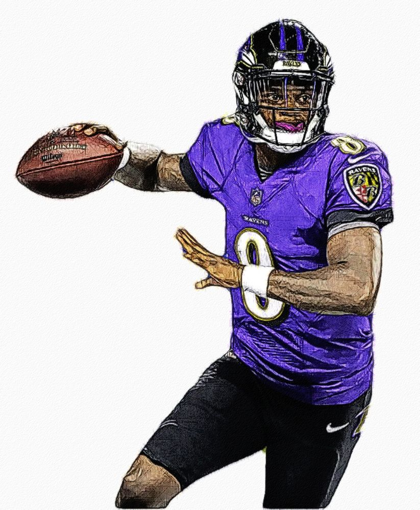 Lamar Jackson Ravens Qb Football Wallpaper Lamar Jackson Nfl Football Art