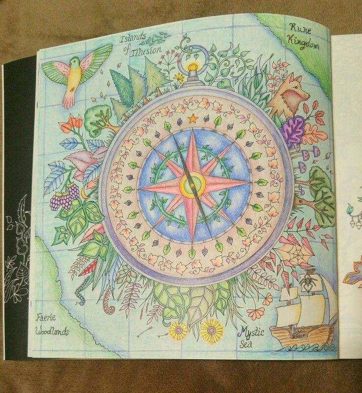 - Enchanted Forest By Johanna Basford Compass Map Page Enchanted Forest Coloring  Book, Enchanted Forest Book, Johanna Basford Coloring Book