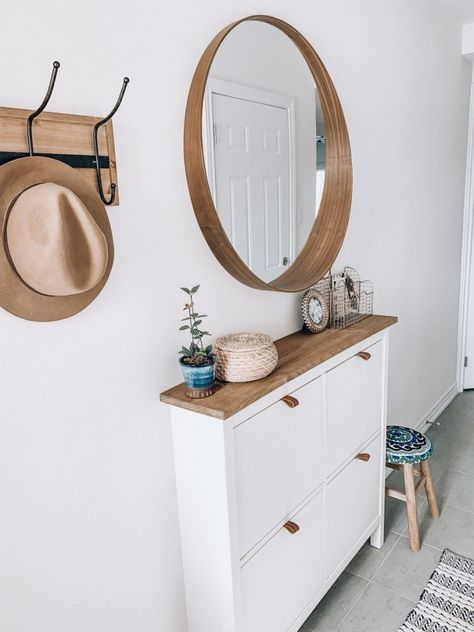 Easy Ikea Shoe Cabinet Hack » #entryway #homedecor #styling #ikea