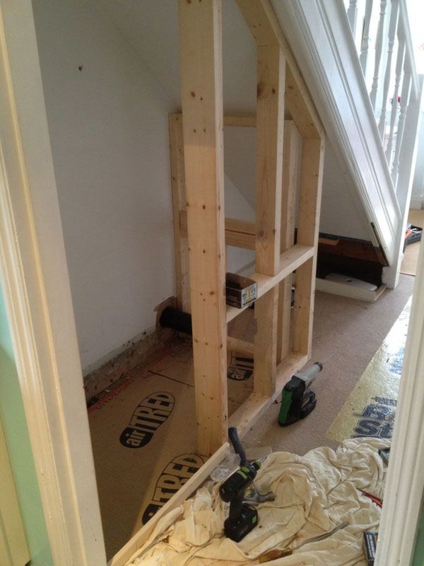 Studwork For Downstairs With Bathroom Installation In Leeds