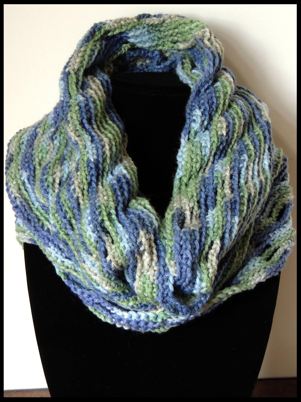 Bufanda circular en crochet … | Puertas de fuantasia | Pinte…