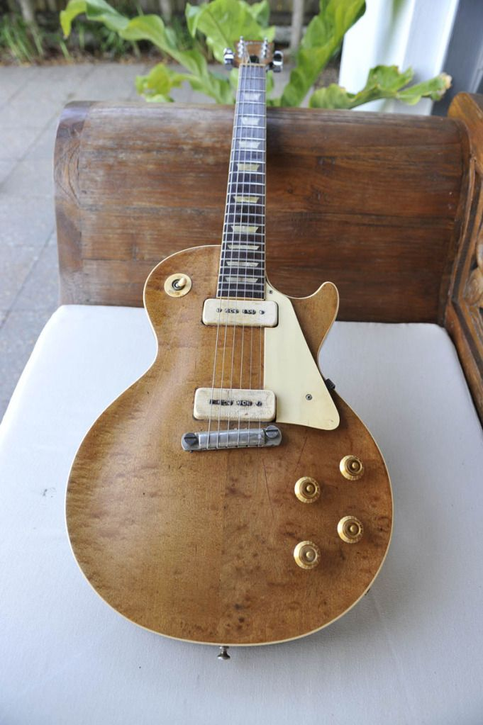 Stripped '54 goldtop Les Paul (I saw this on Pinterest yesterday and had an actual dream about it last night).