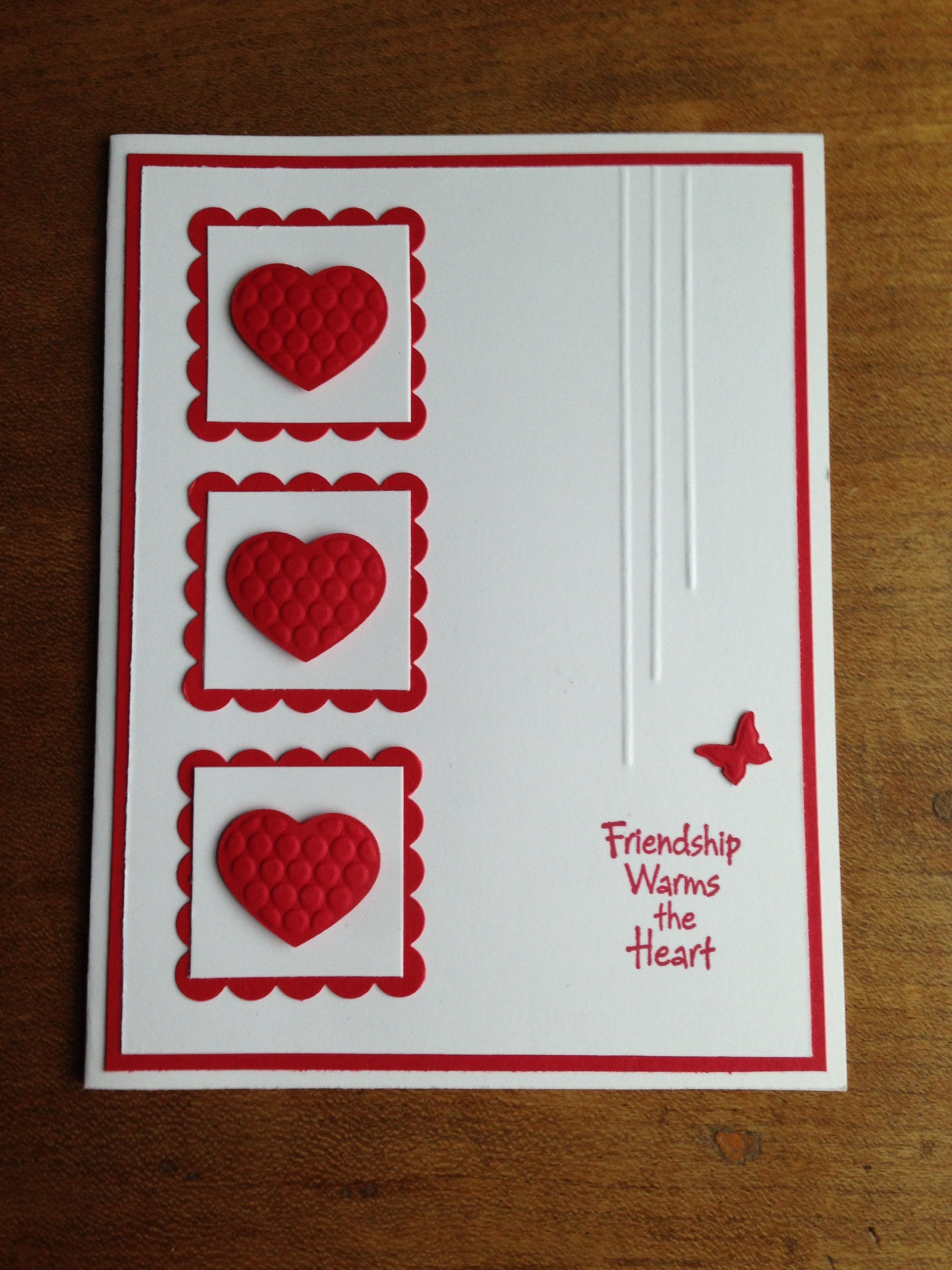 Stampin Up Real Red And Whisper White Cardstock Were Used For This