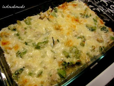 Lowcarb Broccili & Chicken Cheese Casserole Recipe