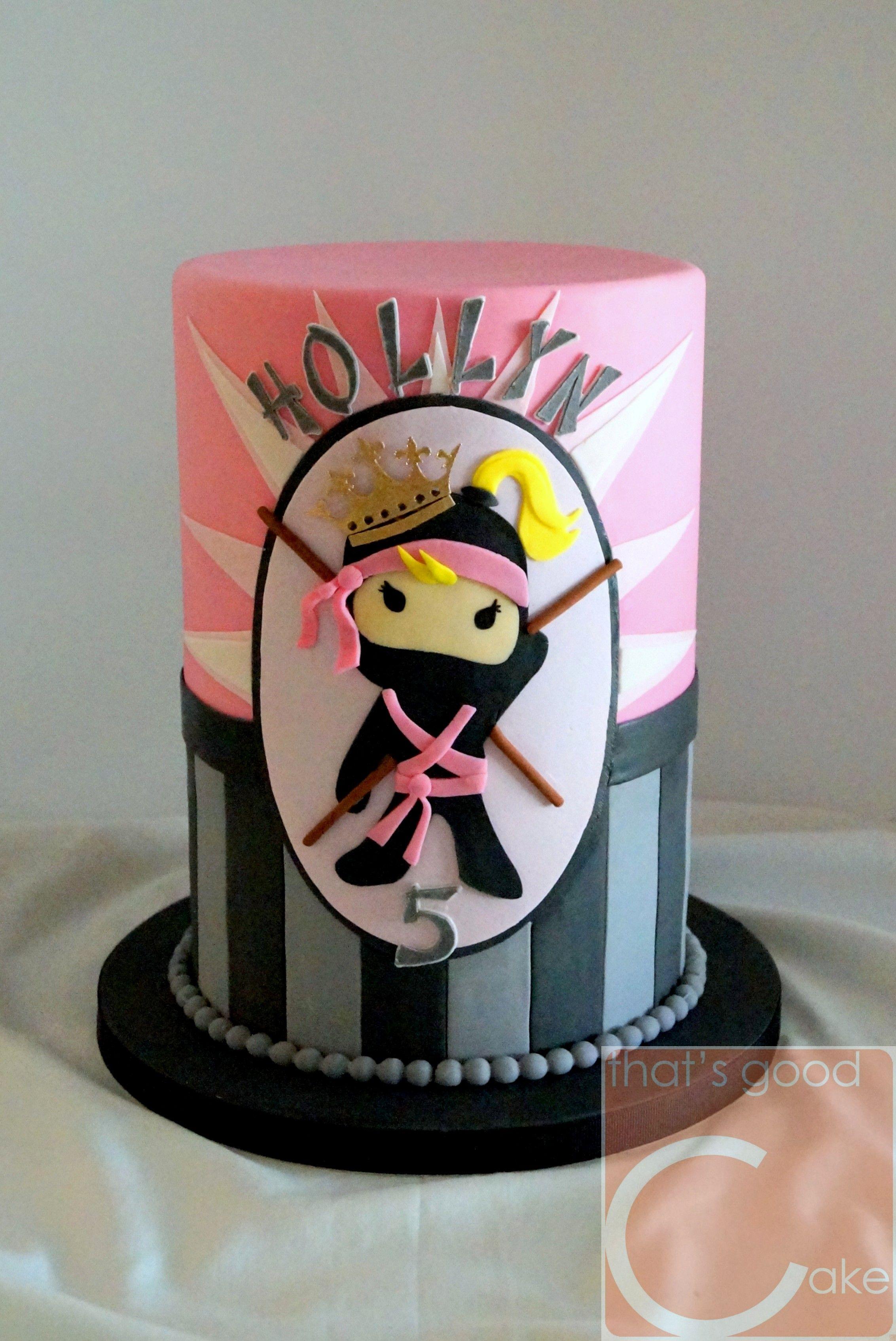 Admirable Ninja Princess Birthday Girl Cake Ninja Birthday Cake Ninja Birthday Cards Printable Inklcafe Filternl