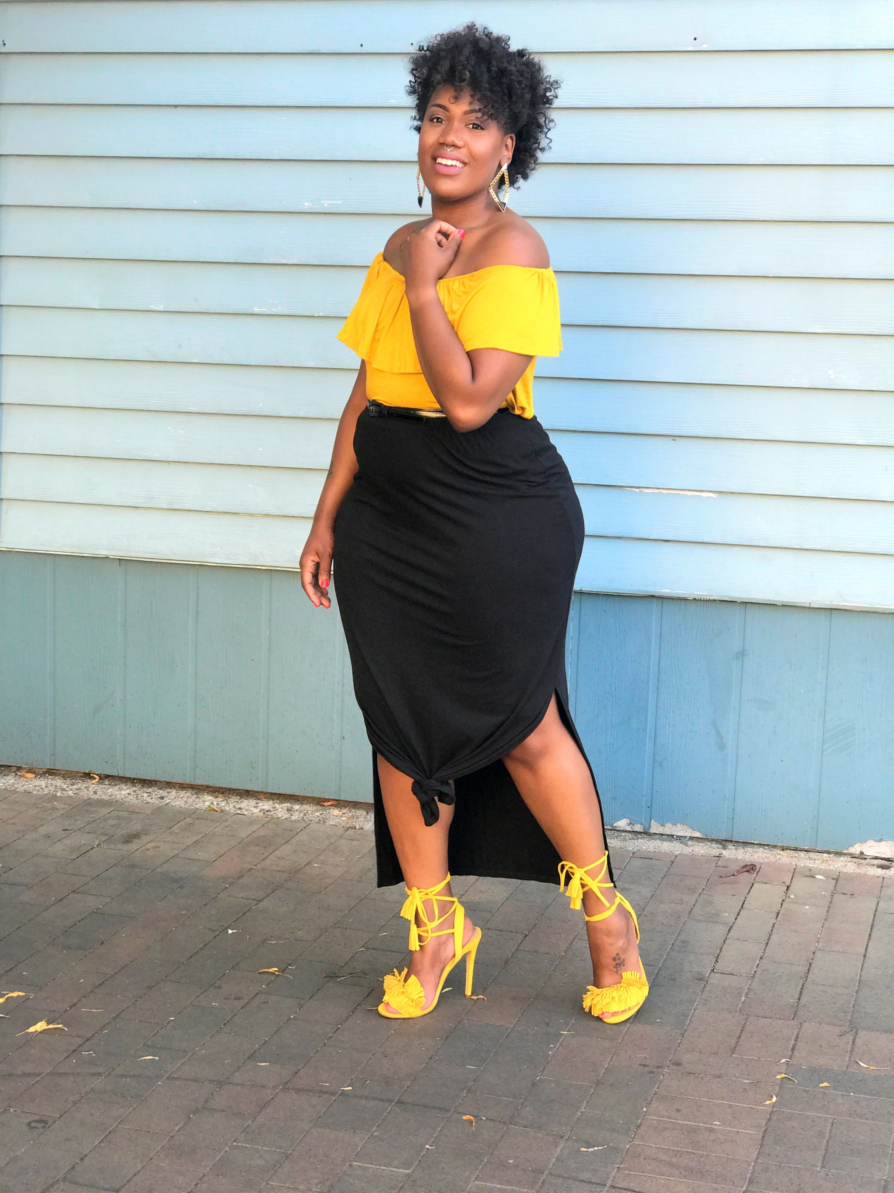 Ruffle Tops and Fringe Shoes. Fashion for plus size women