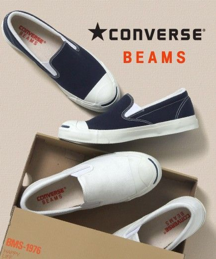 """7bc23331d020fb CONVERSE×BEAMS """"JACK PURCELL SLIP-ON"""""""
