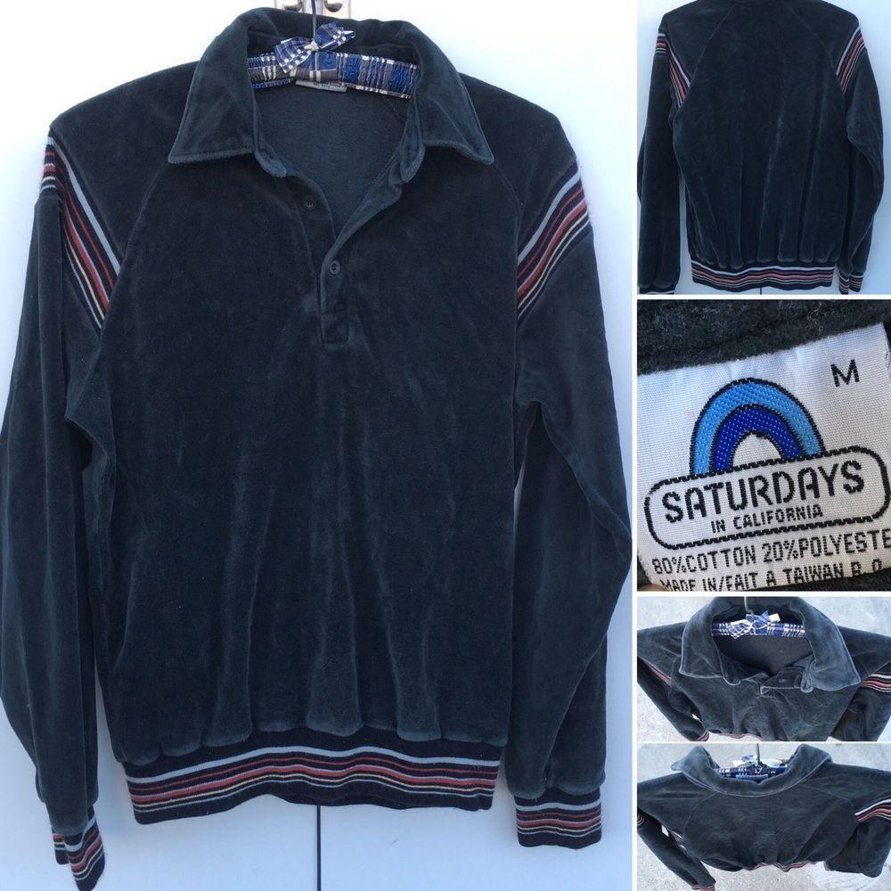Velour Striped Sleeve Jacket in Blue