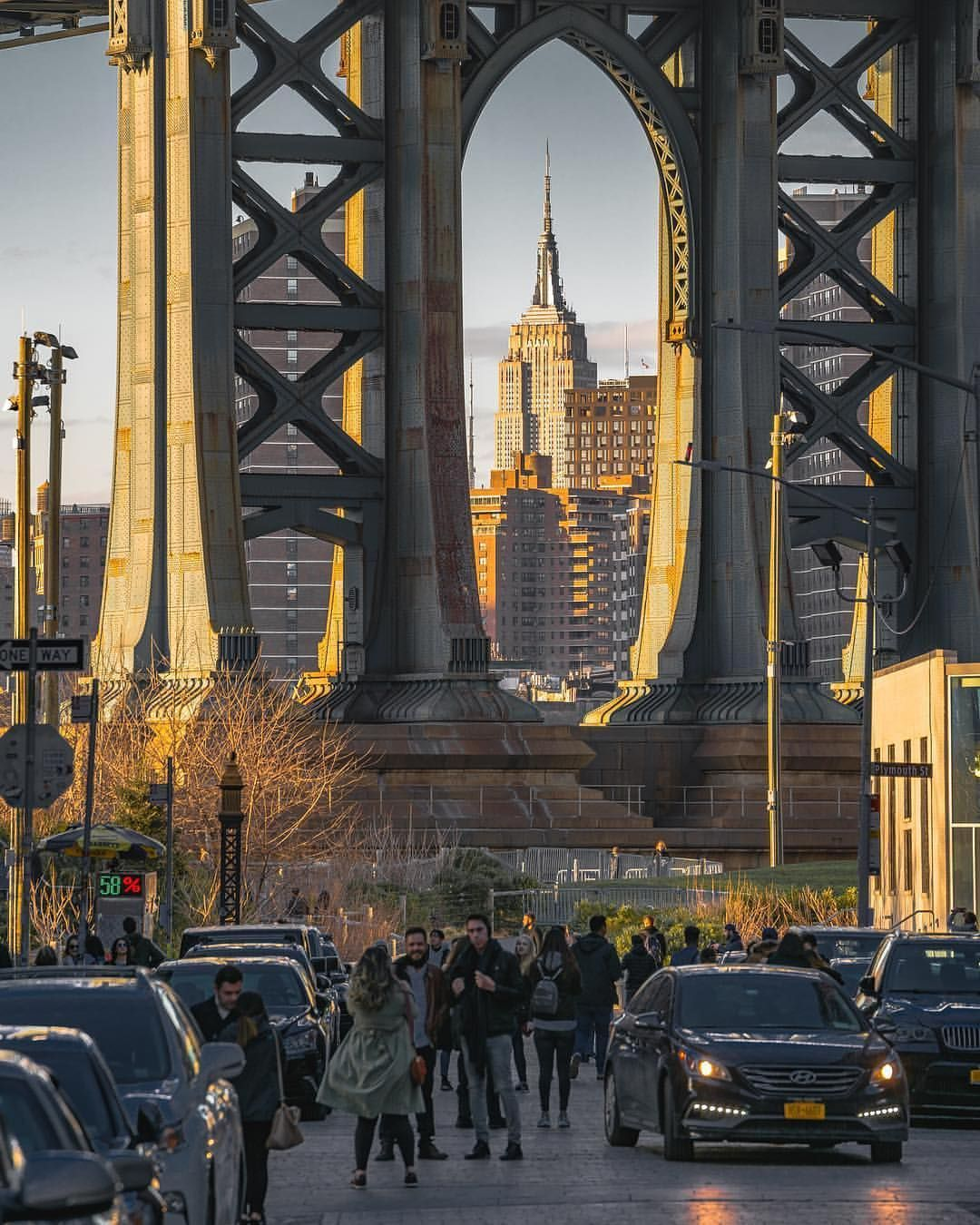 Brooklyn Staten Island Car: Beautiful Sunset Action In DUMBO, Brooklyn By Evan