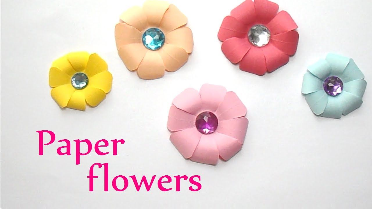 Paper Flowers Flores Diy Pinterest Craft Craft Videos And