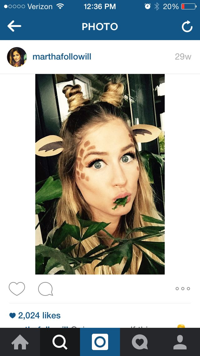 Giraffe hair and makeup … | Pinteres…