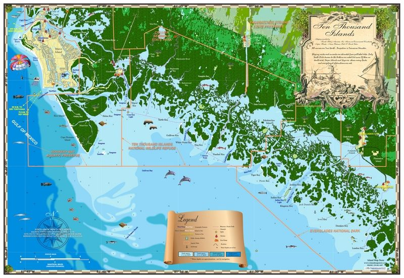 Florida Map Naples.Florida Map Ten Thousand Islands Islands Miles Of Isles In 2019