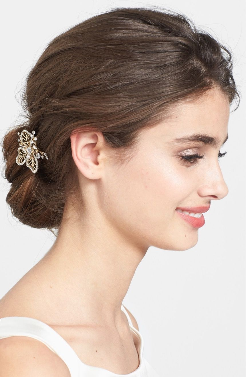 this crystal-encrusted hair pin adds the perfect amount of sparkle