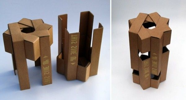 cardboard cool creative stools from