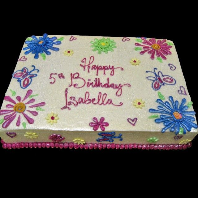 Dance Sheet Cake Home Colorful Flowers Butterflies Birthday