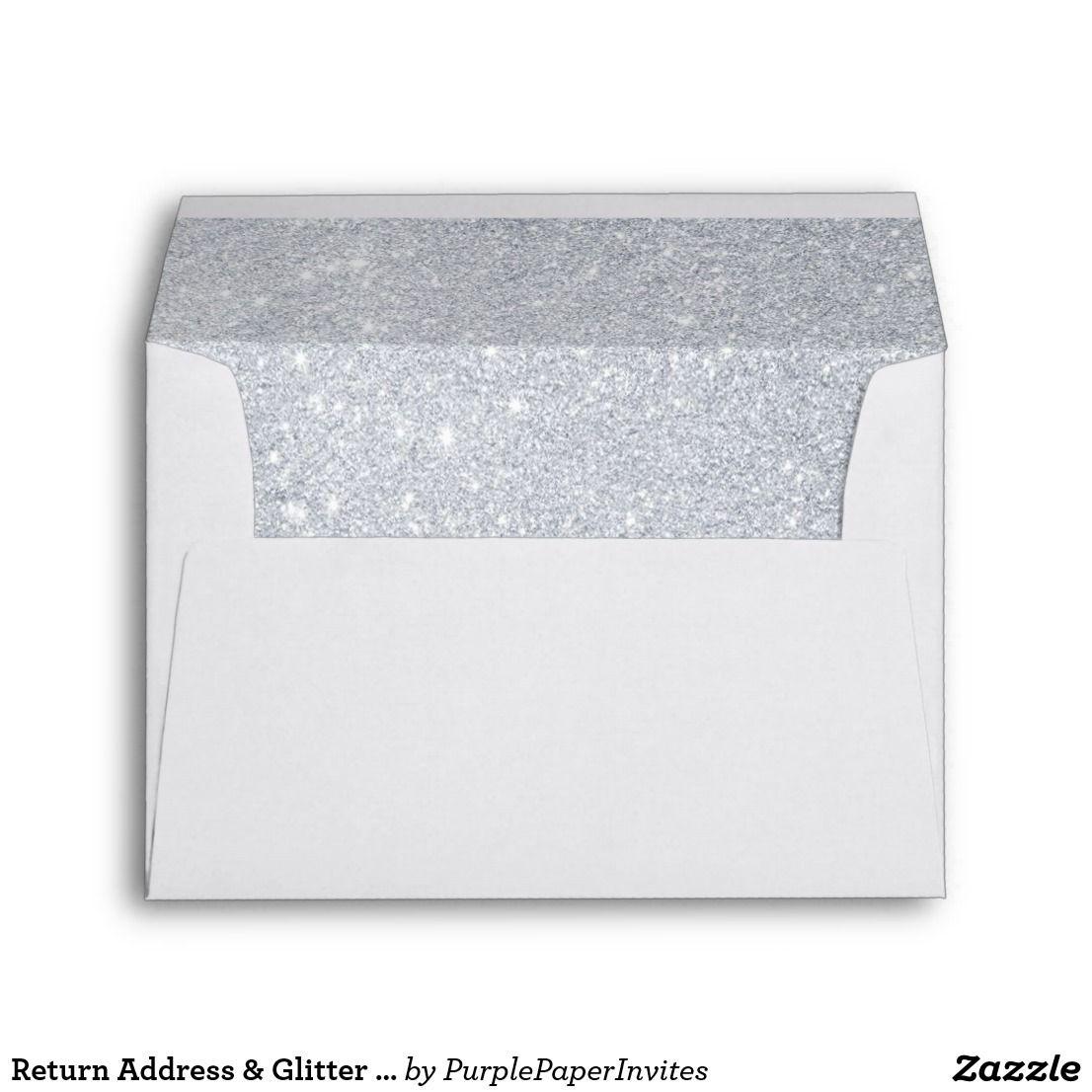 Return Address & Glitter Liners Wedding Envelope | Address envelopes ...