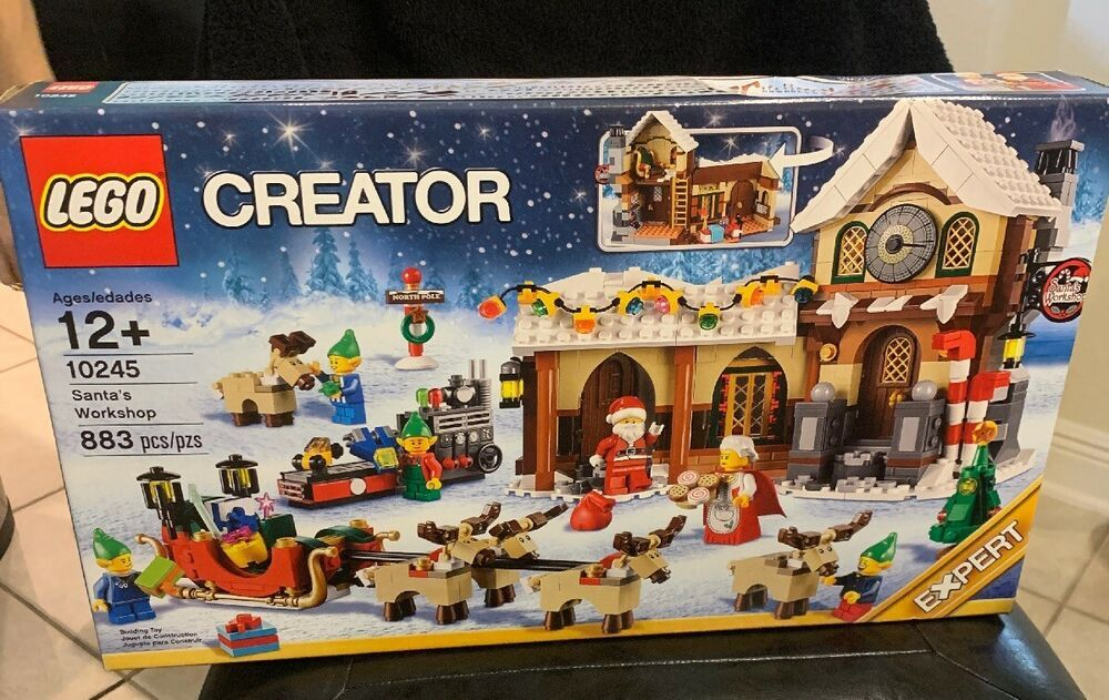 LEGO Creator 10245 Santa/'s Workshop— Christmas New In Sealed Box Retired