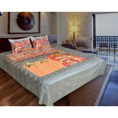 King Size Double Bedsheet - Ethnic Collection