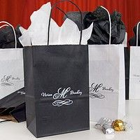 Personalized Pee Kraft Goo Bags Shown In Black And White Printed With Special Instructions To Print