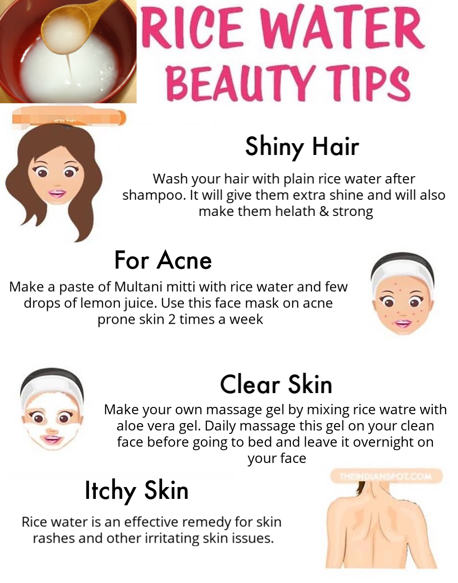 Amazing benefits of rice water for skin & hair #skin #skincare