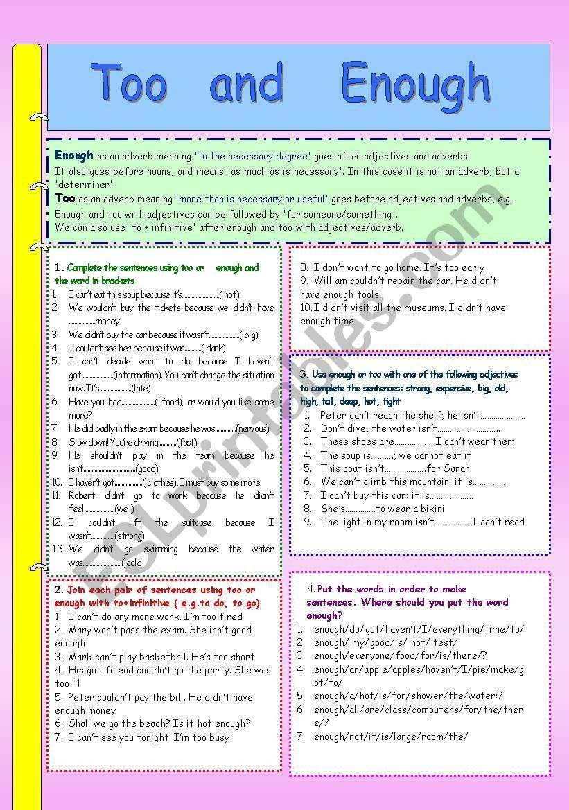 Grammar Explanation And Four Exercises On The Use Of Grammar Worksheets English Grammar Worksheets English Grammar [ 1169 x 821 Pixel ]