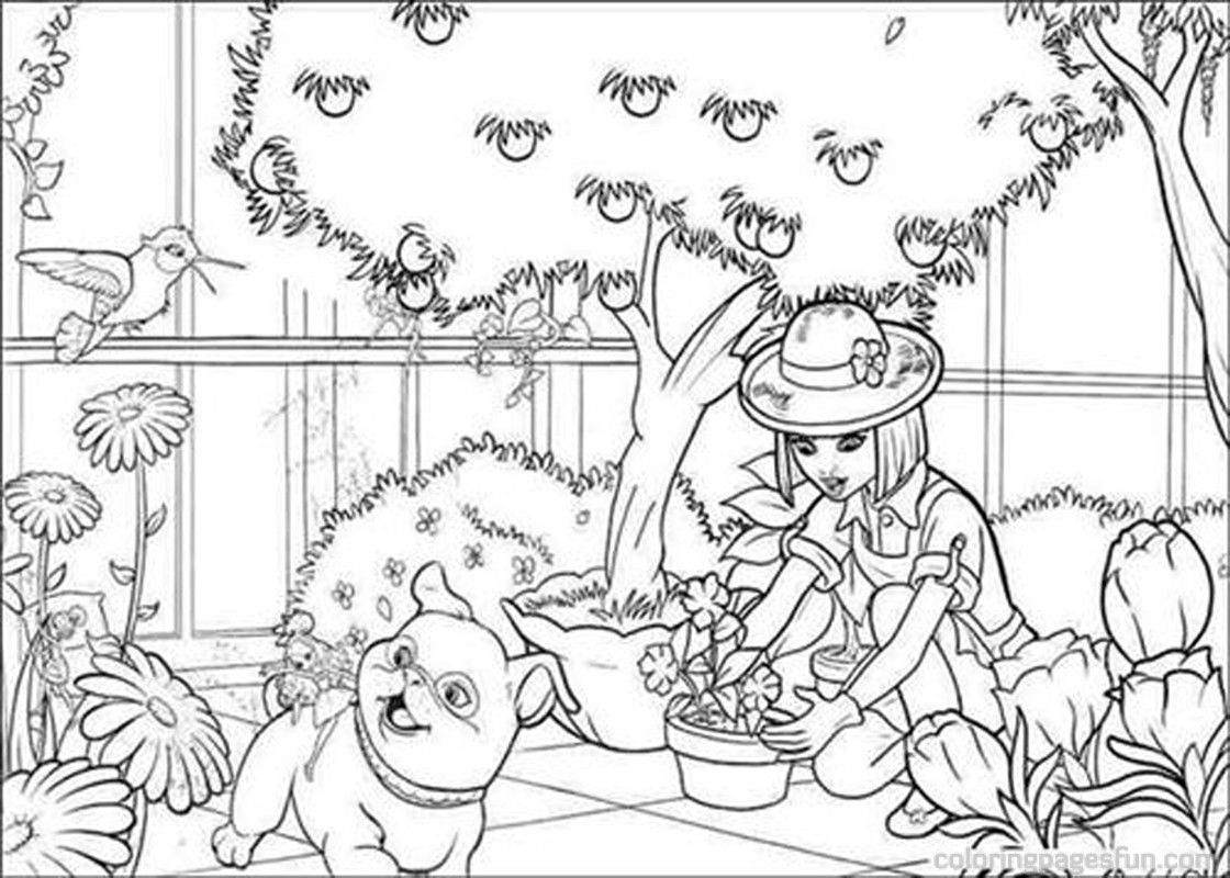 baby thumbelina colouring pages barbie thumbelina coloring pages